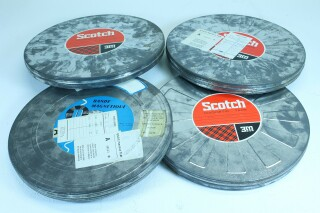 4 Empty Tin Protection Drums for Recorder Reels 1/2 Inch E-1020-VOF