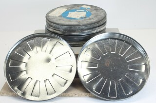 5 Empty Tin Protection Drums for Reels L-884-VOF