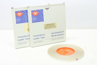 Leader Tape 250 meters/820 feet for 1/4 Tape - Lot of 2 D-1-12267-vof