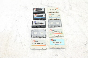 Assortment of used cassettes (10x) EV-P-6330 NEW