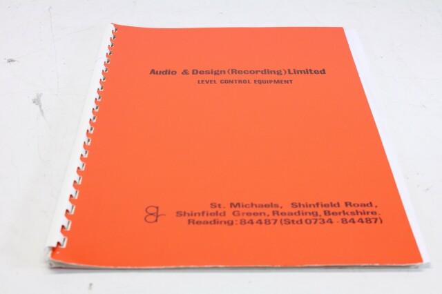 ADR - Level Control Equipment Information F-12980-BV