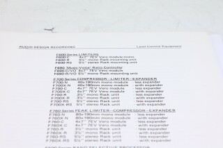 ADR - Level Control Equipment Information F-12980-BV 2