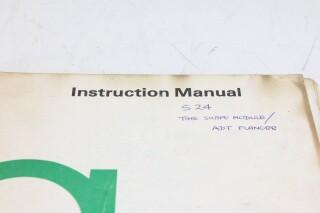 S 24 Time Shaper Module/ ADT Flanger Manual F-12984-BV 2