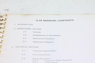 S 24 Time Shaper Module/ ADT Flanger Manual F-12984-BV 3