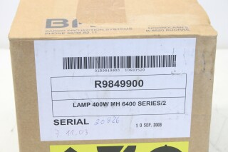 R9849900 MH 6400 Series 2 - 400W Projector Replacement Lamp Assembly Q-11658-bv 7