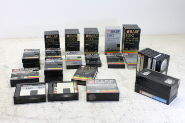 Assortment of BASF video cassettes EV-P-6304
