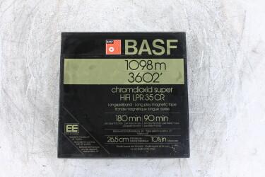 """1098m 3602' UNUSED 1/4"""" reel tape NAB Chromdioxid LPR 35 EV-P-6225 NEW"""