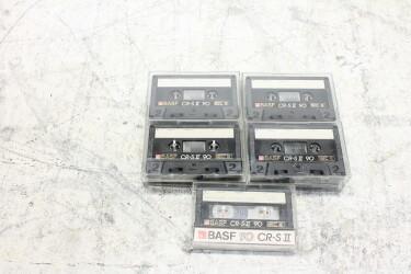 Cassette CR-S II 90m IEC II USED (9 cassettes) EV-P-6302