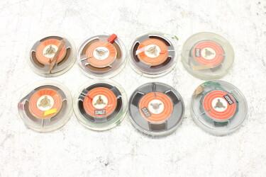 """Magnetophonband 1/4"""" reel tape 3"""" USED (8 reels) EV-P-6327 NEW"""