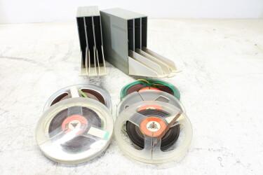 "Magnetophonband 1/4"" reel tape 5¾"" in plastic 3box USED (6 reels) EV-P-6320 NEW"