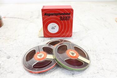 "Magnetophonband 1/4"" reel tape 5"" in plastic 3box USED EV-P-6306"