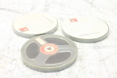 """Magnetophonband 1/4"""" reel tape 5¾"""" USED (3 reels) EV-P-6325 NEW"""