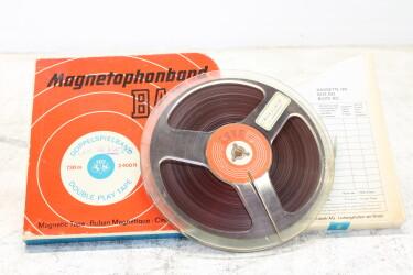 "Magnetophonband 1/4"" reel tape 7"" in box LGS 26 USED EV-P-6314"