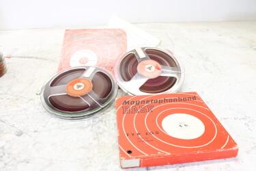 """Magnetophonband 1/4"""" reel tape 7"""" in box LGS USED (2 reels) EV-P-6312"""