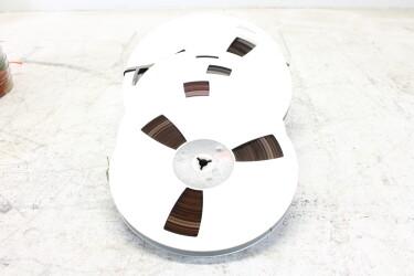 """Magnetophonband 1/4"""" reel tape 7""""/8½"""" alu reel USED (6 reels) EV-P-6315 NEW"""