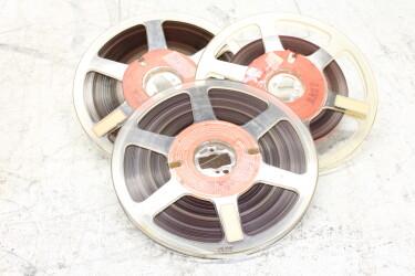 """Magnetophonband 1/4"""" reel tape 8½"""" din USED (3 reels) EV-P-6318 NEW"""
