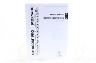 Autocom Pro MDX1400 User's Manual EV-F-5896