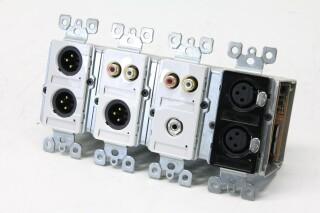 4x XLR/RCA In/Output Wall Mount Box AXL6 A/B-13454-bv 1