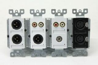 4x XLR/RCA In/Output Wall Mount Box AXL6 A/B-13454-bv 2