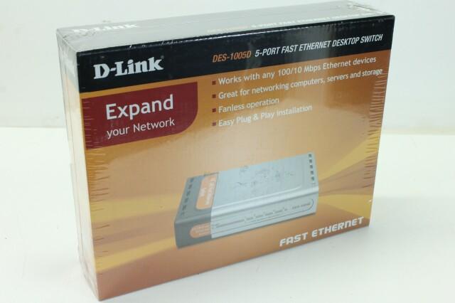 DES-1005D - 5-Port Fast Ethernet Desktop Switch NEW! A-9657-x