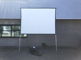 Projector Screen - 3,20M x 4,27M 4:3 With Frame and Case HVR-VL-3998