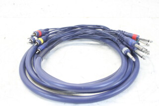 MK-822 8 Pair Studio Multi Core Cable - RCA To Jack (3 Meter) EV-A12-4604 NEW