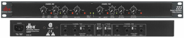 223 Stereo 2-Way Crossover AXL5-ALX-PL-3-12812 NEW