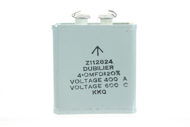 NEW OLD STOCK Z112824 4 OMFD ± 20%, Voltage 400A - Voltage 600C KKQ HEN-ZV-7-BOX-1-5321