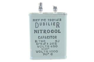 Nitrogol Capacitor B768SJ 5µF ± 20%, 650V at 100°C - 1000V at 70°C HEN-ZV-7-BOX-5-5337