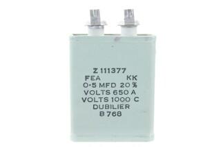 Z111377 FEA KK0.5µF ± 20%, Volts 650A- Volts 1000CB768 HEN-ZV-7-BOX-5-5340 NEW