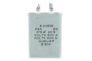 Z111510 FEA PC 0.5 µF 20% Volts 600A - Volts 800C B510 HEN-ZV-7-BOX-5-5335 NEW