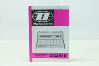 Gigant II, Operating Manual w. Schematics (No.1) F-8958-x