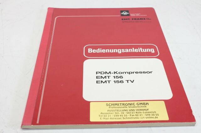 156 PDM Compressor Manual With Schematics (German) (No.2) F-12989-BV
