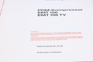 156 PDM Compressor Manual With Schematics (German) (No.2) F-12989-BV 2