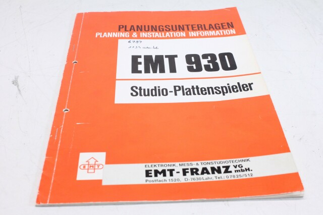 930 Planning & Installation Information Manual And Schematic F-12987-BV