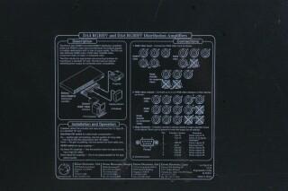 DA RGB/YUV Series Wideband Distribution Amplifier HER1 ORB1-13791-BV 3