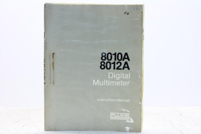 8010A 8012A Digital Multimeter Instruction Manual EV-F-5361