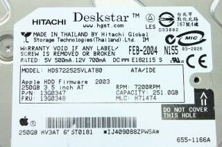 Deskstar 250GB Apple Hard Disk Drive (No.1) S-9622-x 5