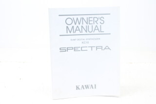 Spectra KC10 Owners Manual EV-5257 NEW