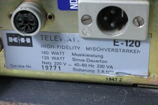 Telewatt E-120 - 100 V, 5 Channel Mono Mixing Amplifier KAY N-13627-bv 10