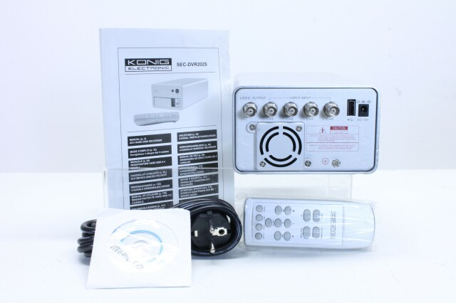 4 channel HDD Recorder with remote nr2 F-11522-BV