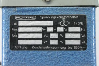 S 60 0 3 Spannungskonstanthalter (Automatic Voltage Regulator) KAY G-13622-bv 6