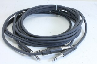 Klotz 6,3mm patch cable - length 3m - lot of 2 - With Neutrik NP3TB plugs (No.3) KM1-11113-z 2