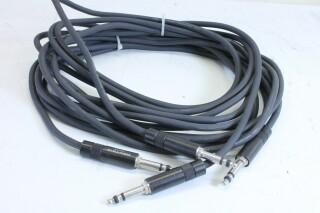 Klotz 6,3mm patch cable - length3m - lot of 2 - With Neutrik NP3TB plugs (No.1) KM1-11108-z