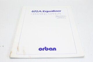 672A Equalizer - Operating Manual F-8260-X