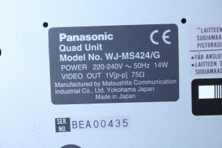 WJ-MS424/G - Color Quad System Digital Video Multiplexer (No.6) BVH2 RK-3-12242-bv 7