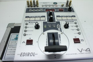 Edirol  V4 4-Channel Video Mixer With Case HVR-P-3841 NEW 4