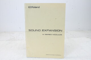 Sound Expansion M Series Modules Manual EV-F-4833 NEW