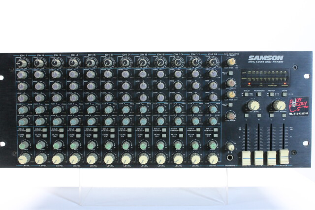 19 Inch 12 Channel Mixer model MPL1204 Mic Mixer FVW-RK-18-5613 NEW