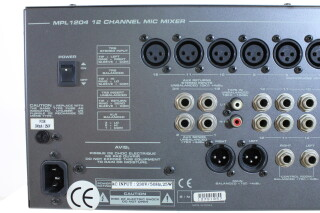 19 Inch 12 Channel Mixer model MPL1204 Mic Mixer FVW-RK-18-5613 NEW 8